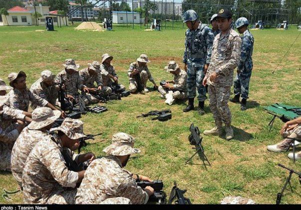 الحرس الثوري يجري تدريبات في الصين2
