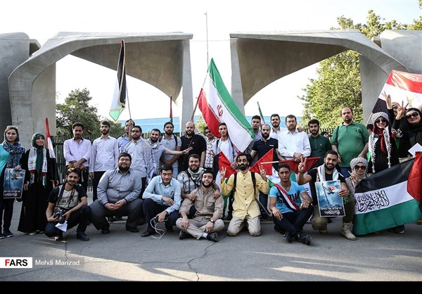 تجمع طلابي امام جامعة طهران نصرة للمسجد الاقصى23
