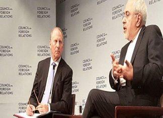 ظريف يلقي كلمة في مجلس العلاقات الخارجية الاميركي