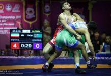 منتخب ايران يتوج ببطولة اسيا للمصارعة الرومانية