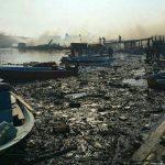 النيران تلتهم 13 زورقا في مياه ايران الجنوبية