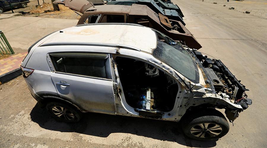 از تانک نامرئی تا بولدوزر زرهی در نمایشگاه خودروهای داعش3