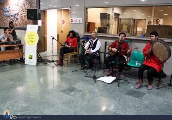 عزف الموسيقى في محطات مترو الانفاق بطهران3