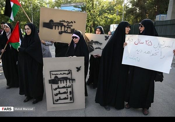 تجمع طلابي امام جامعة طهران نصرة للمسجد الاقصى3