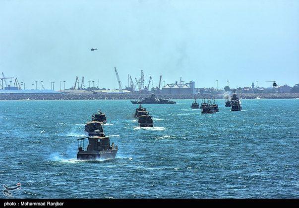 البحرية الايرانية تختتم مناوراتها في بحر قزوين