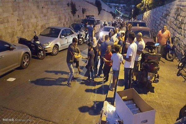 توزیع بستههای غذایی ایران در مسجدالاقصی4