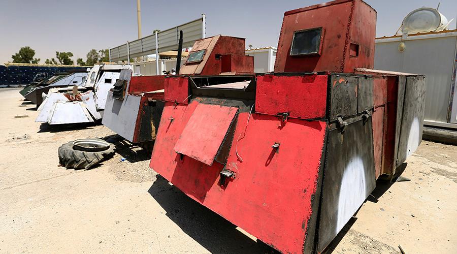 از تانک نامرئی تا بولدوزر زرهی در نمایشگاه خودروهای داعش5