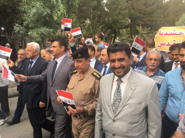 عراقيو طهران يحتفلون بتحرير الموصل