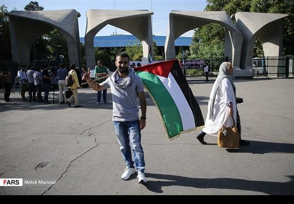 تجمع طلابي امام جامعة طهران نصرة للمسجد الاقصى8