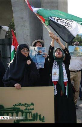 تجمع طلابي امام جامعة طهران نصرة للمسجد الاقصى9