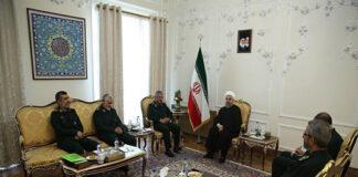 Iran President Meets Top IRGC Commanders