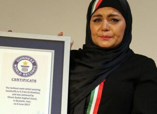 Iranian Female Swimmer Breaks Guinness Record