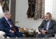 لاريجاني يلتقي الرئيس العراقي السابق جلال طالباني