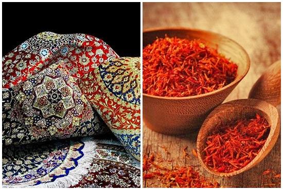 صادرات ايران من السجاد و الزعفران لامريكا بلغت 90 مليون دولار