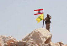 Hezbollah Takes Down ISIS Flag on Syrian Border
