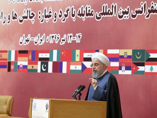الرئيس روحاني: على الجميع ان يتحمل مسؤولية حماية البيئة
