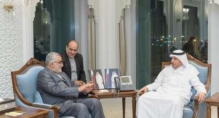 برلماني ايراني يلتقي رئيس مجلس الوزراء القطري في الدوحة