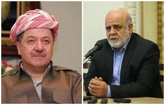 اليوم .. ايران تبحث موضوع الاستفتاء مع مسعود البارزاني