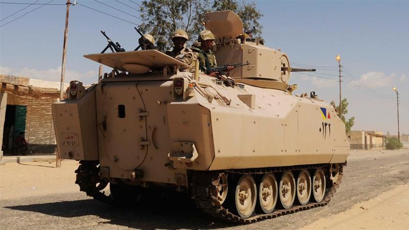 Egyptian security forces kill over 10 militants near Sinai
