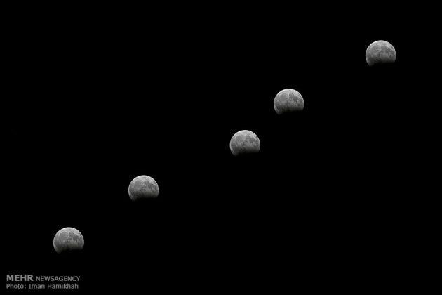 ظاهرة خسوف القمر في ايران1