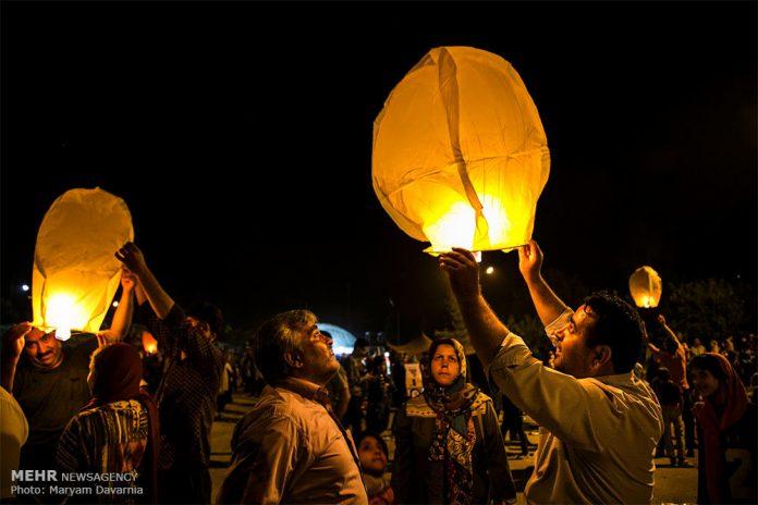 مهرجان البالونات في بجنورد الايرانية دعما لأطفال سوريا10