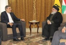 Iranian Diplomat Holds Talks with Hezbollah Chief