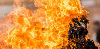 ISIS Element Burned Alive by First Wife on Wedding Night