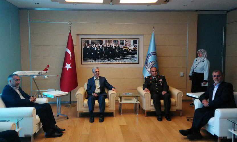 Chief of staff of Iran's Armed Forces visiting Turkey