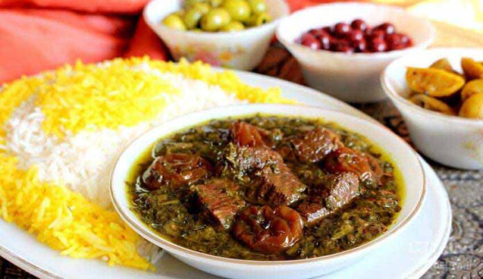 Prune-Spinach Stew A Tasty, Traditional Iranian Meal
