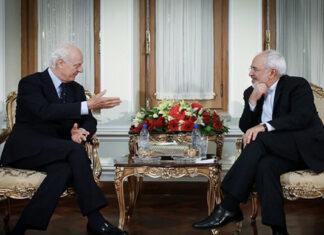 Iran FM Zarif- Staffan de Mistur