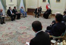 الرئیس الایرانی يلتقي رئيس مجلس النواب اللبناني نبيه بري