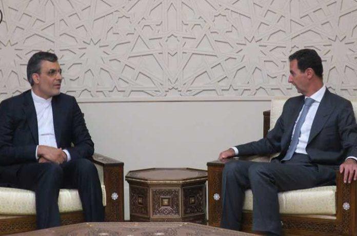 الاسد يلتقي مساعد وزير الخارجية الايراني في دمشق