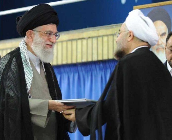 مراسم تنصيب الرئيس الايراني في حسينية الامام الخميني