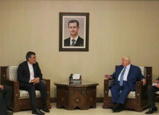 مساعد وزير الخارجية الايرانية يلقتي وزير الخارجية السوري في دمشق