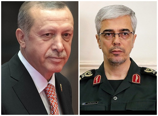 رئيس الاركان الايراني يلتقي الرئيس التركي اردوغان في انقرة