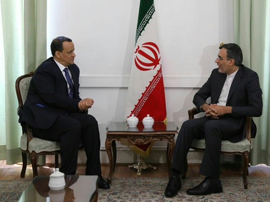 Zarif, UN Envoy Discuss Yemen Crisis