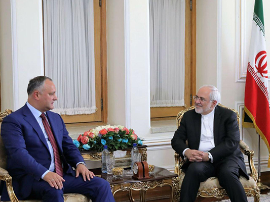 Iran FM Holds Talks with Moldova President