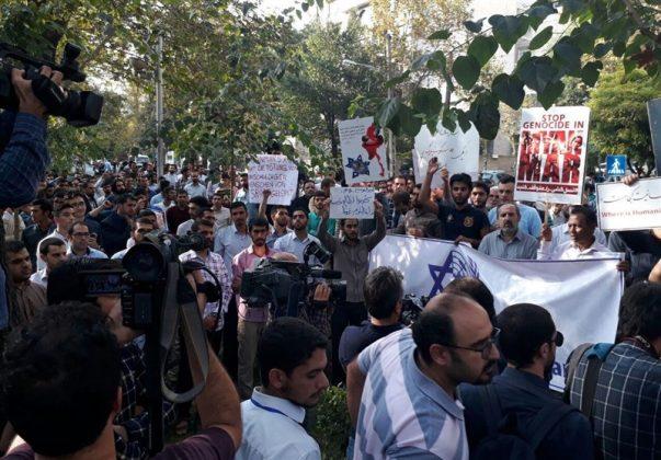 جامعيون يعتصمون امام مكتب الامم المتحدة بطهران1