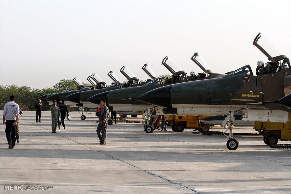 مناورات القوات الجوية الإيرانية في