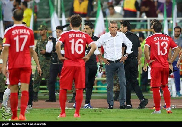 لقاء منتخبي إيران وسوريا لكرة القدم11