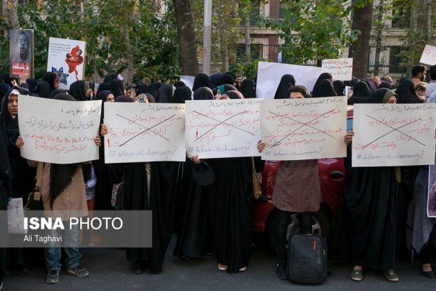 جامعيون يعتصمون امام مكتب الامم المتحدة بطهران12