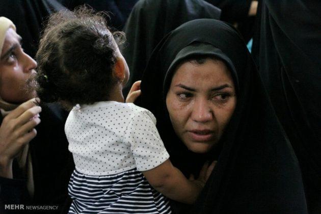 ايران .. مراسيم تشييع جثامين تلميذات لقين مصرعهن بحادث 13