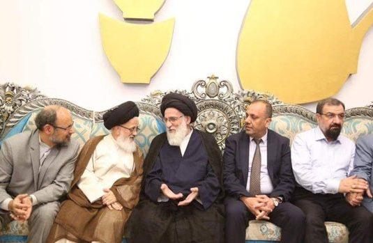 رئيس مجمع تشخيص مصلحة النظام في ايران بمدينة النجف