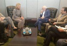 ظريف يلتقي موغريني على هامش اجتماع الجمعية العامة للامم المتحدة