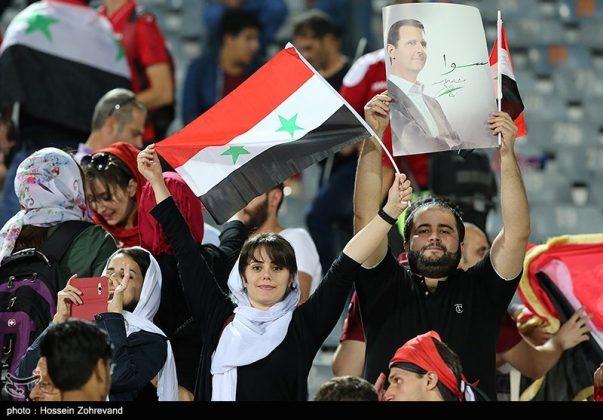 لقاء منتخبي إيران وسوريا لكرة القدم14