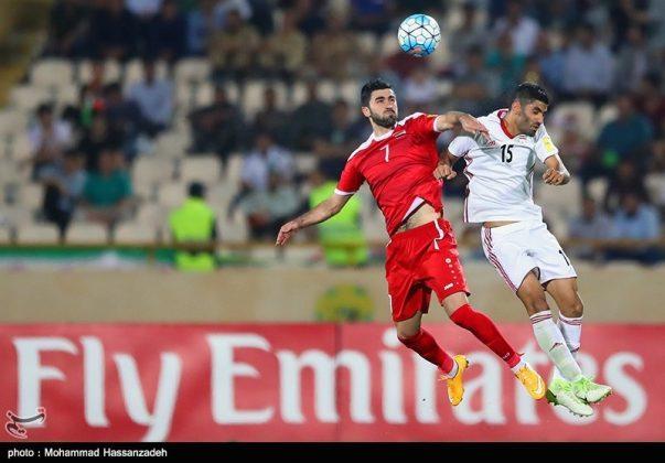 لقاء منتخبي إيران وسوريا لكرة القدم19
