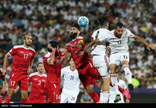 لقاء منتخبي إيران وسوريا لكرة القدم20