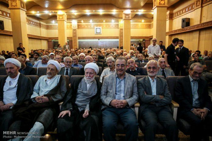 مراسم تأبين وزير الخارجية الايراني الاسبق