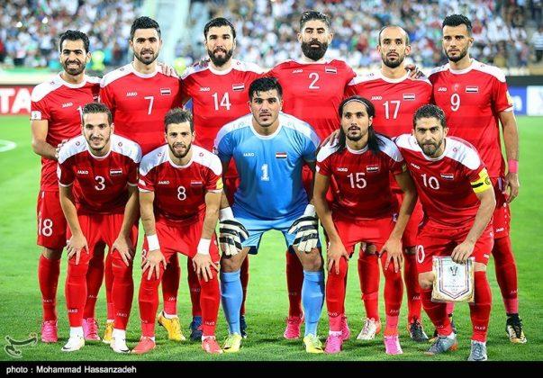 لقاء منتخبي إيران وسوريا لكرة القدم3