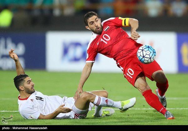 لقاء منتخبي إيران وسوريا لكرة القدم4